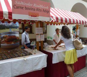 Rindfleisch mit dem Qualitätszeichen Südtirol bei der Lorenzinacht