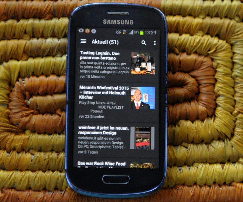 Die neue Weinlese Südtirol APP für Android Handys
