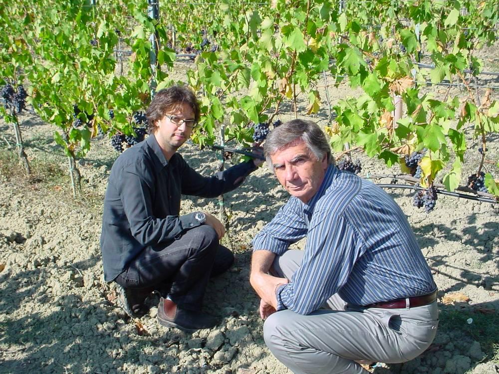 Alberto Cenni con il figlio Fabio