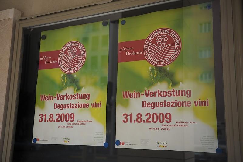 Vinea Tirolensis 2009 - Die Freien Weinbauern im Stadttheater Bozen